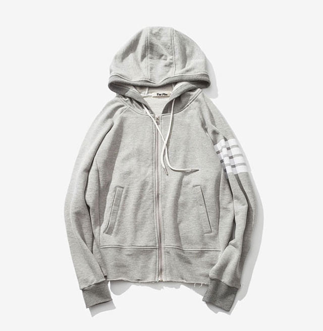 Blank Men Gray Hoodies Wholesale