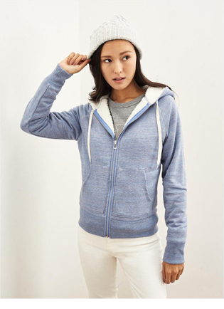 full zipper hooded slim fit customized white girls hoodies