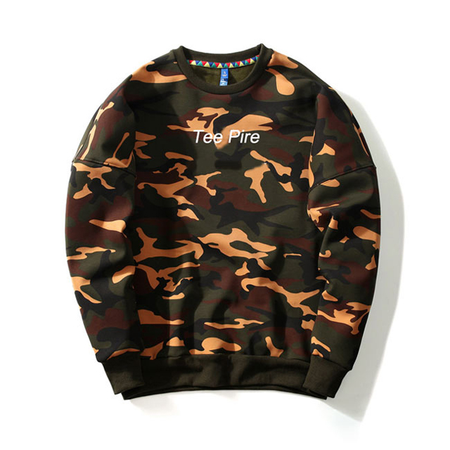 China Manufacturer wholesale personalized Crew Neck Camo hoodies