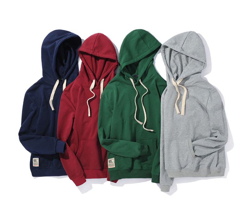 OEM Plain Cotton Fleece Hoodies For Men