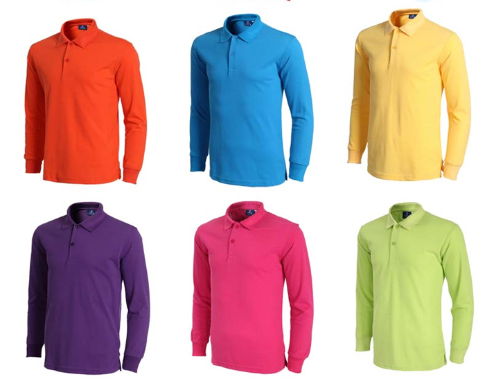Wholesale Mens Long Sleeve Pique Polo Shirts