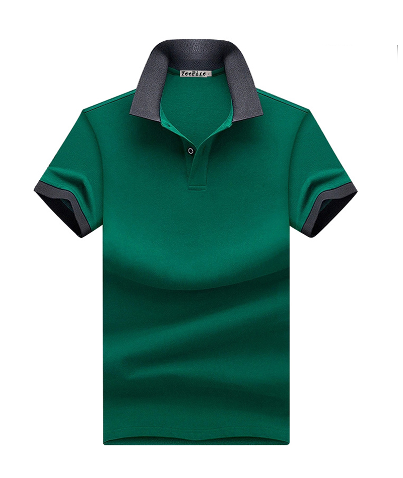 Custom Plain Blank Men Cotton Green Polo Shirts