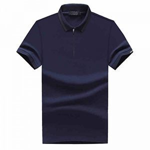Custom made buttonless zipper collar polo shirt