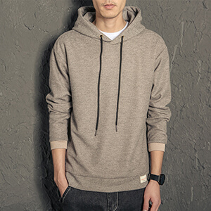 men's grey/black hooded sweatshirt & hoodie for men