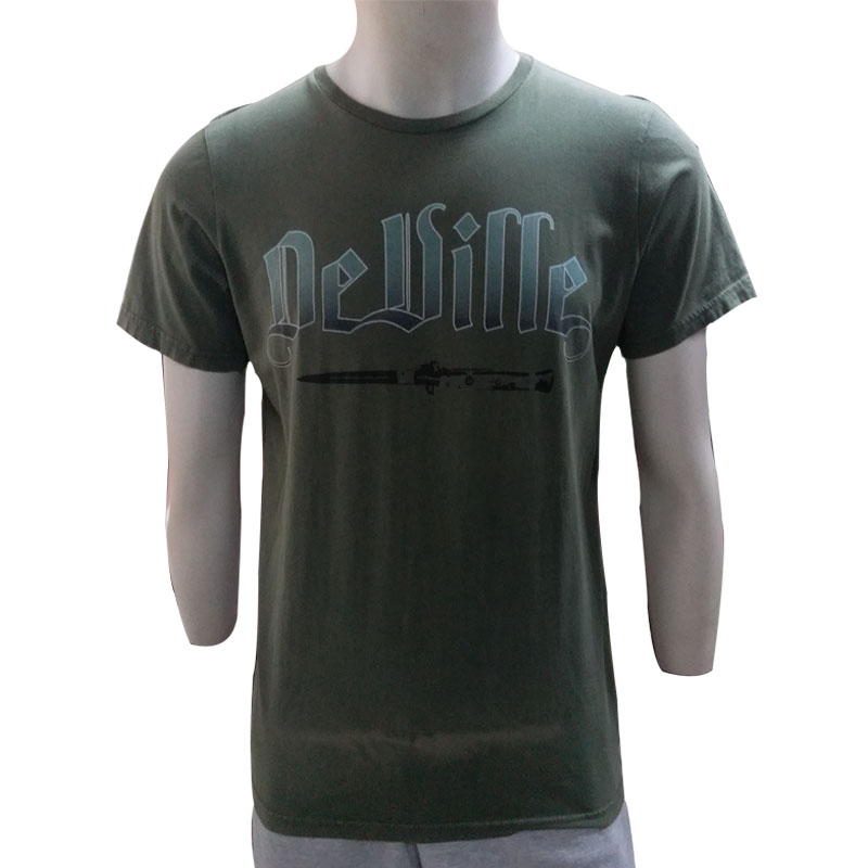 customized short sleeve discharge printing washed t shirt for men