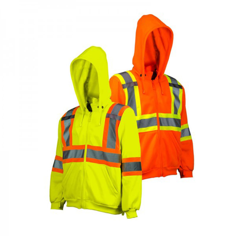 Custom safety hoodie Hi-Vis Traffic hoodie with Detachable hood