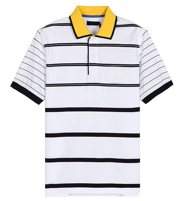 2016Top Fashion Men Striped Polo Shirt