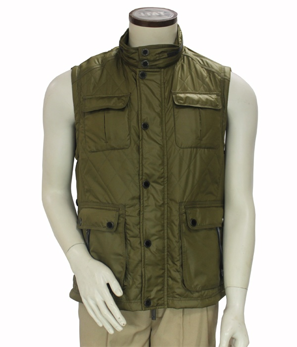 Wholesale men fitted winter down vest casual jackets coats