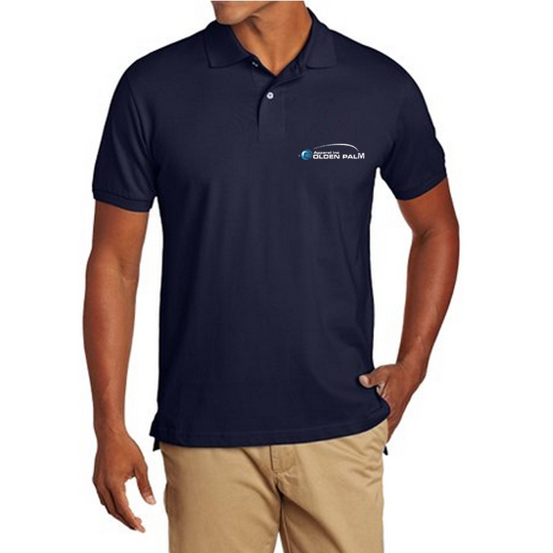 Mens Solid Polo Shirt With Small embroidered Logo