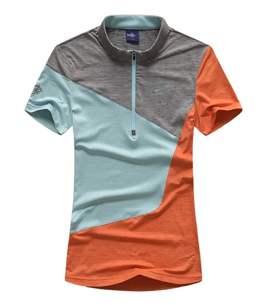 unisex splicing colorful lycra fitness clothing quality mens polo shirts
